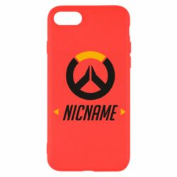Чехол для iPhone 7 Your Nickname Overwatch