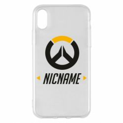 Чехол для iPhone X/Xs Your Nickname Overwatch