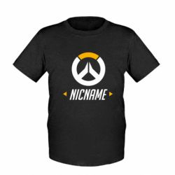 Детская футболка Your Nickname Overwatch