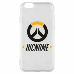 Чехол для iPhone 6/6S Your Nickname Overwatch