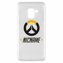 Чехол для Samsung A8 2018 Your Nickname Overwatch