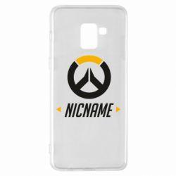 Чехол для Samsung A8+ 2018 Your Nickname Overwatch