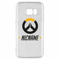 Чехол для Samsung S7 Your Nickname Overwatch