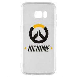 Чехол для Samsung S7 EDGE Your Nickname Overwatch