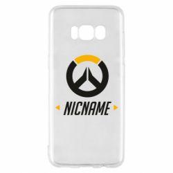 Чехол для Samsung S8 Your Nickname Overwatch