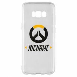 Чехол для Samsung S8+ Your Nickname Overwatch