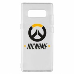 Чехол для Samsung Note 8 Your Nickname Overwatch