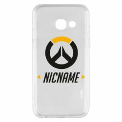Чехол для Samsung A3 2017 Your Nickname Overwatch