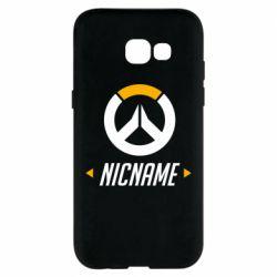 Чехол для Samsung A5 2017 Your Nickname Overwatch