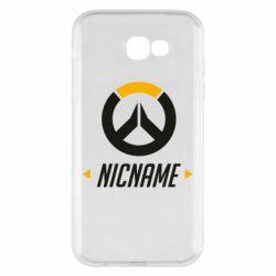 Чехол для Samsung A7 2017 Your Nickname Overwatch