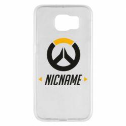 Чехол для Samsung S6 Your Nickname Overwatch