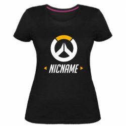 Женская стрейчевая футболка Your Nickname Overwatch