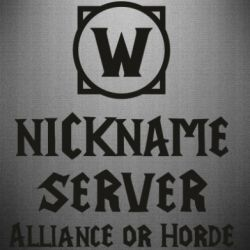 Наклейка Your nickname World of Warcraft