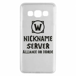 Чохол для Samsung A3 2015 Your nickname World of Warcraft