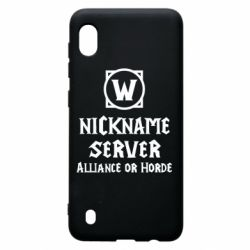 Чохол для Samsung A10 Your nickname World of Warcraft