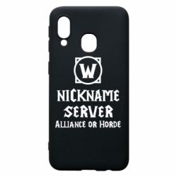 Чохол для Samsung A40 Your nickname World of Warcraft