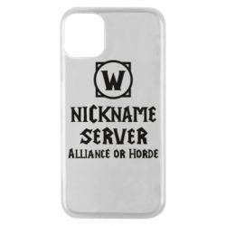 Чохол для iPhone 11 Pro Your nickname World of Warcraft