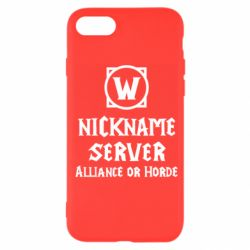 Чохол для iPhone 7 Your nickname World of Warcraft