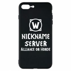 Чохол для iPhone 7 Plus Your nickname World of Warcraft