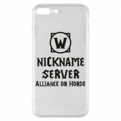 Чохол для iPhone 8 Plus Your nickname World of Warcraft
