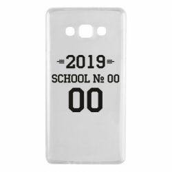 Чехол для Samsung A7 2015 Your School number and class number