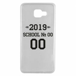 Чехол для Samsung A7 2016 Your School number and class number