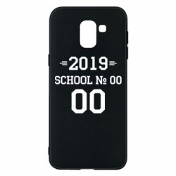 Чехол для Samsung J6 Your School number and class number