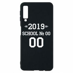 Чехол для Samsung A7 2018 Your School number and class number