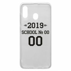 Чехол для Samsung A30 Your School number and class number