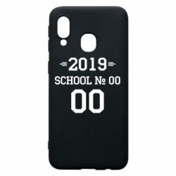Чехол для Samsung A40 Your School number and class number