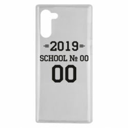 Чехол для Samsung Note 10 Your School number and class number