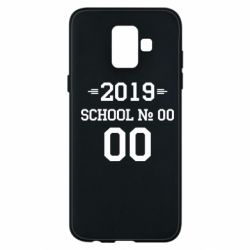 Чехол для Samsung A6 2018 Your School number and class number