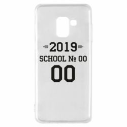 Чехол для Samsung A8 2018 Your School number and class number