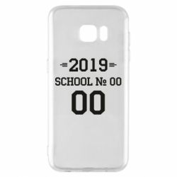 Чехол для Samsung S7 EDGE Your School number and class number