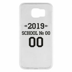 Чехол для Samsung S6 Your School number and class number
