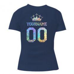 Женская футболка Yourname Crown голограмма