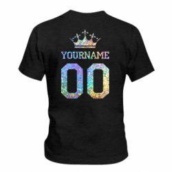 Детская футболка Yourname Crown голограмма