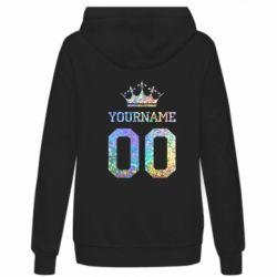 Женская толстовка Yourname Crown голограмма
