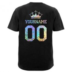 Мужская футболка  с V-образным вырезом Yourname Crown голограмма