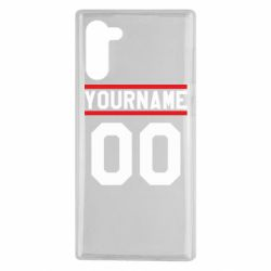 Чохол для Samsung Note 10 Yourname USA