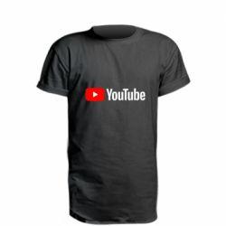 Удлиненная футболка Youtube logotype