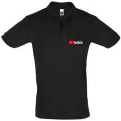 Мужская футболка поло Youtube logotype