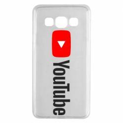 Чехол для Samsung A3 2015 Youtube logotype
