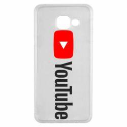 Чехол для Samsung A3 2016 Youtube logotype