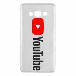 Чехол для Samsung A7 2015 Youtube logotype