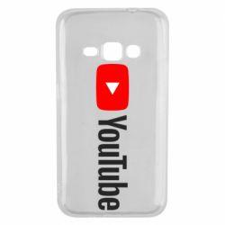 Чехол для Samsung J1 2016 Youtube logotype
