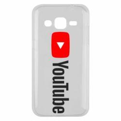 Чехол для Samsung J2 2015 Youtube logotype