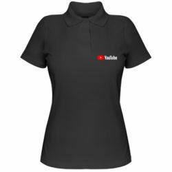 Женская футболка поло Youtube logotype