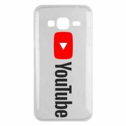 Чехол для Samsung J3 2016 Youtube logotype