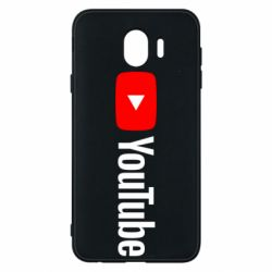 Чехол для Samsung J4 Youtube logotype
